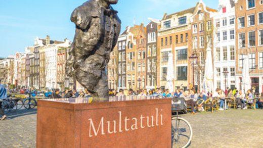 monumen Multatuli di Amsterdam belanda