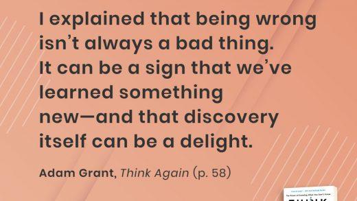 Think Again: Sukacita Berbuat Keliru