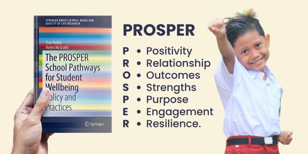 PROSPER: Positivity, Relationship, Outcomes, Strengths, Purpose, Engagement, dan Resilience.